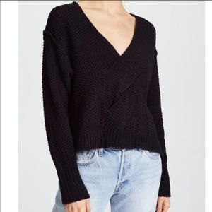 Free People Coco V Neck Sweater Black
